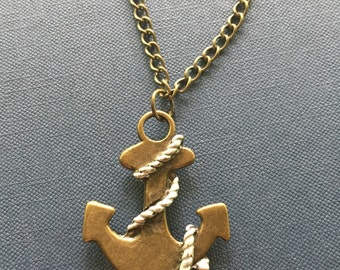 Dropped Anchor Pendant Necklace