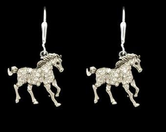 Galloping Horse Dangle Earrings