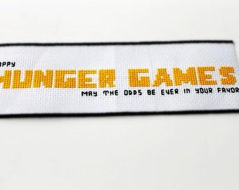 Hunger Games Cross Stitch Bookmark