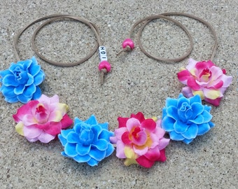Bubble Gum Flower Halo/ Flower Headband/ Crown/ Halo