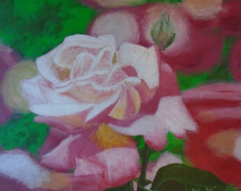 For sale original !  acrylic paintings of flowers.