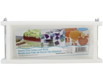 Heavy Duty Soap Loaf Mold, Holds 3 lb Plastic, Easy to Use