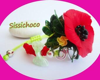 "Bracelet flower ""poppy Papaveraceae"" (creator)"