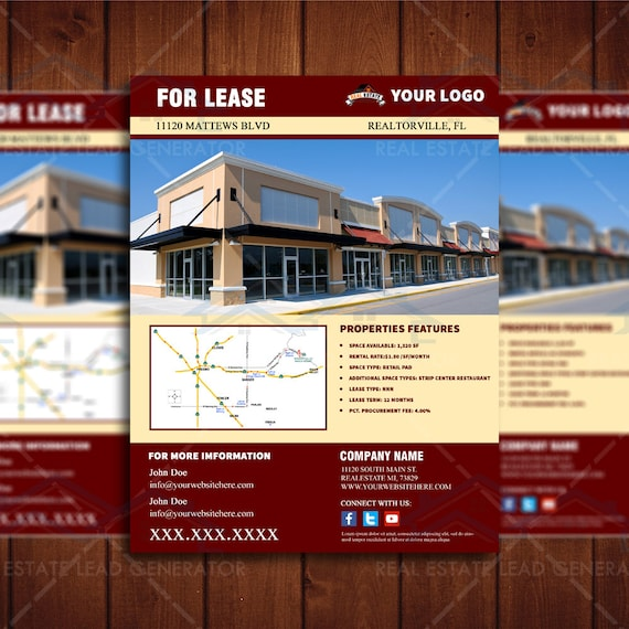 commercial real estate marketing plan template - for lease commercial real estate flyer retail space