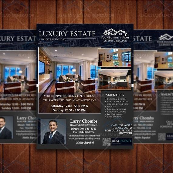 open house real estate flyer template by creativeetsydesigns. Black Bedroom Furniture Sets. Home Design Ideas