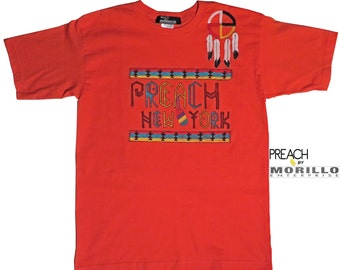 Handpainted PREACH T-Shirt Native American Inspired