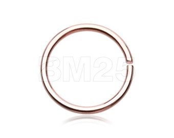 Rose Gold PVD Basic Steel Bendable Nose Hoop