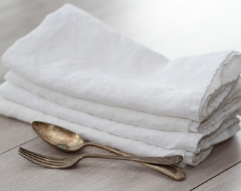 Set of Linen Napkins (Large) - White