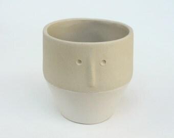 """""""Friend"""" - Cup - espresso Cup / pot plants - sandstone"""
