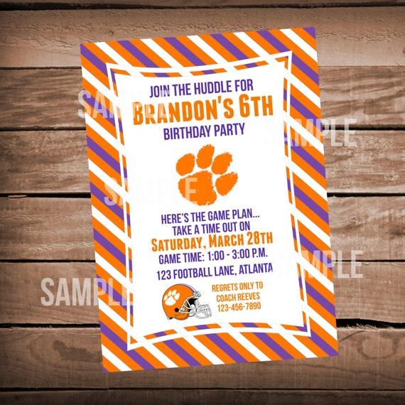 Clemson University Tigers Football Birthday By