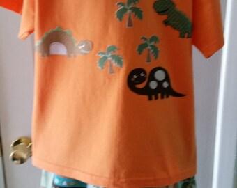 Boys Dinosaur Pajama Shorts and top Set