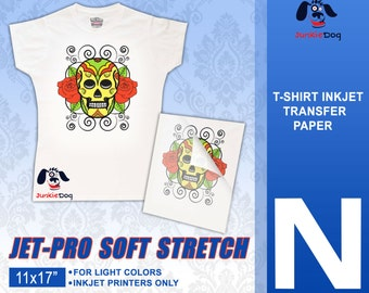 "11 x 17"" 100 Sheets - Neenah Jet Pro SofStretch Inkjet Heat Transfer Paper - Iron On Transfer Paper 11 x 17"""