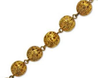 11mm Filigree Bead Chain (1 foot)