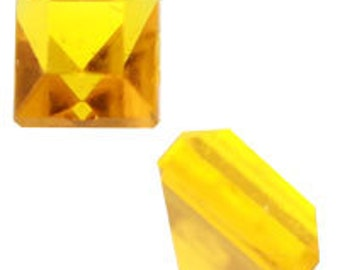 4mm Topaz Square Acrylic Pointed-back Stones (144pcs)