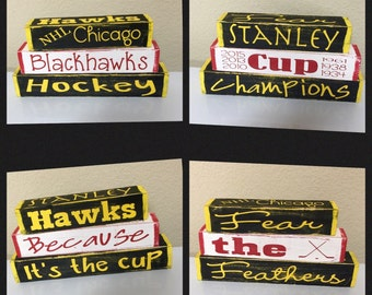 Chicago Blackhawks interchangeable blocks