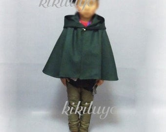 Child cloak New Attack on Titan Shingeki no Kyojin Recon Corps Cloak - Recon corps or Training corps - Kid size Costume Cosplay