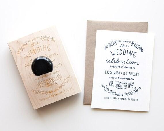 Custom Wedding Invitation Stamp Wedding Stamp By Poppipaperco