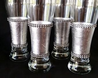 Silver Leaf Pilsner Glasses