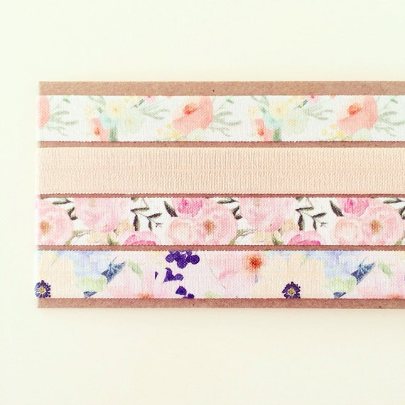 Watercolor Floral Headband Set | Vintage Floral Print Elastic Headbands for Baby Toddlers Adults, Boho Baby Headbands, Pastel Pink Peach