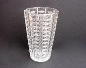 Vintage Pressed Glass Vase Vintage Vase Celery Vase