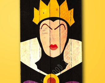 Evil Queen painted wood sign / Disney / villain / Evil Queen Sign / Snow White gift