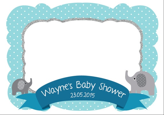 photo frame photo booth prop baby shower printable frame for