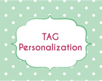 Add personalization to your tag