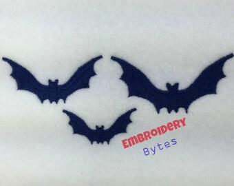 Bat Machine Embroidery Design Halloween