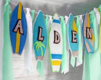 Pool Party Banner, Surfboard Birthday, Surfboard Birthday Banner, Surfboard  Party, Beach Party Banner, Beach Birthday Surfboard, Surfboard
