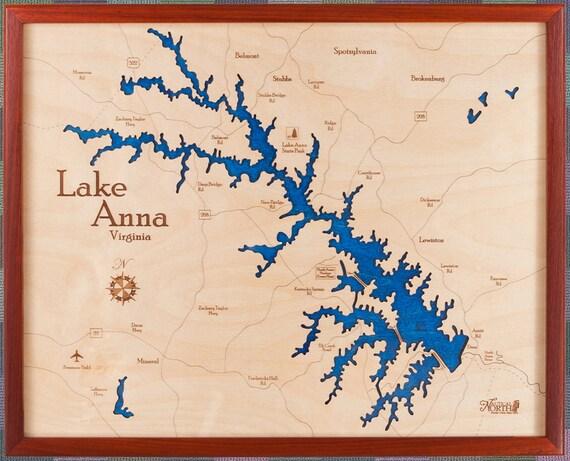 Lake Anna Virginia 16x20 3d Wall Chart