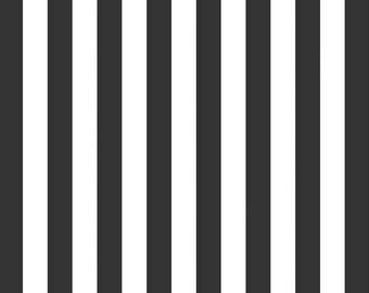 Black 1/2 in Stripe - Riley Blake Designs - C530-110