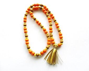 necklace Boho style - Multicolor / handmade