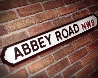 Abbey Road Old Fashioned Faux Cast Iron London Street Sign