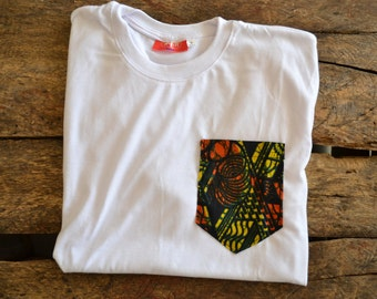 Pocket T-Shirt Red and Yellow MEDIUM