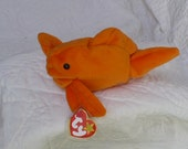 Goldfish Stuffed Animal Named Goldie - Vintage Fish Plushie - Orange Goldfish Plush Toy - Aquatic Decor