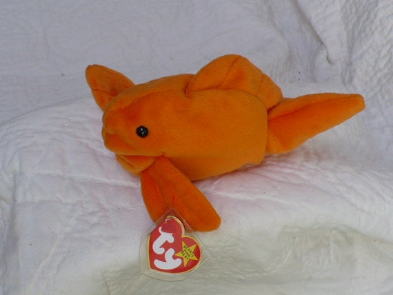 Goldfish stuffed animal named goldie vintage fish plushie for Fish stuffed animal