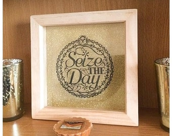Seize the Day Cameo Paper Cut / Papercut Template - Commercial Use - Instant download.