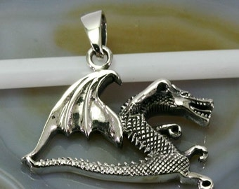 Dragon pendant 925 sterling silver  --  6129