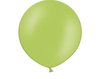 """36"""" (3ft) Pastel Lime Green Latex Balloon. Solid colour balloon. giant balloon. round balloon. huge balloon."""