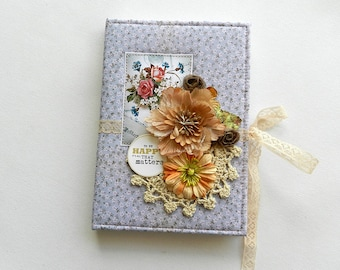 Handmade Notebook, Journal, Notebook with Fabric Cover