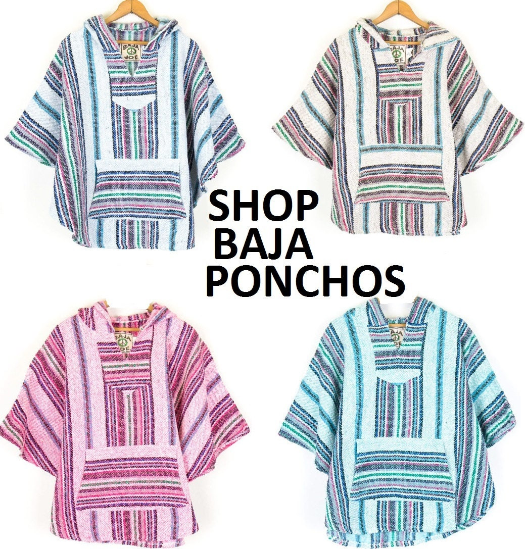 Mexican Threads Baja Poncho Hoodie Drug Rug By OrvinApparel