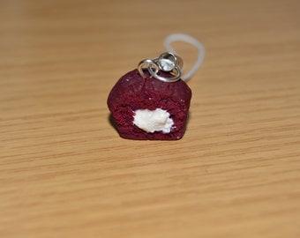 Red velvet clay phone charm
