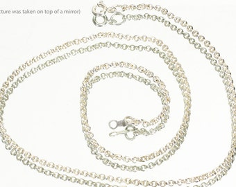 Sterling Silver 2mm Rolo Chain Necklace, Jewelry Making, Necklace for Your Own Pendant, 18 Inches Long