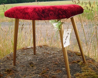 Her majesty - just take seat and think about it.. Vintage upholstery stool