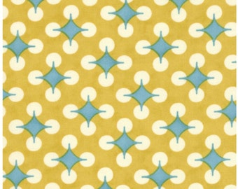 "Moda Fabrics Home On The Range Golden Yellow/Blue/BrownStripe 54"""