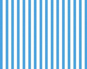 Blue Stripe Fabric, 1/4 metre or more, online patchwork fabric Australia