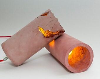 LJ Lamps delta red – concrete pendant lamp