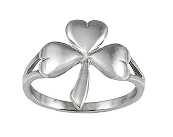 Sterling Silver Clover Ring (R355)