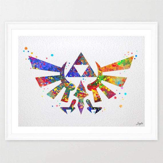 Zelda Wall Decoration : Hyrule crest legend of zelda modern link by kidsandhomes
