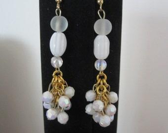Elegant Bridal White Earrings